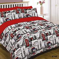 """Яркое двуспальное постельное белье для дома Viluta ранфорс """"Лондон"""""""