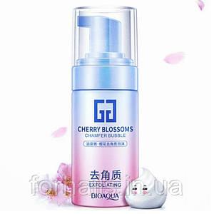 Отшелушивающий мусс для лица Bioaqua с экстрактом сакуры cherry Blossoms, 120 мл