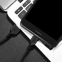Кабель USB - Type C (USB C) Hoco X20, черный, 3 метра, быстрая зарядка 2А, шнур тайп си для зарядки, фото 3
