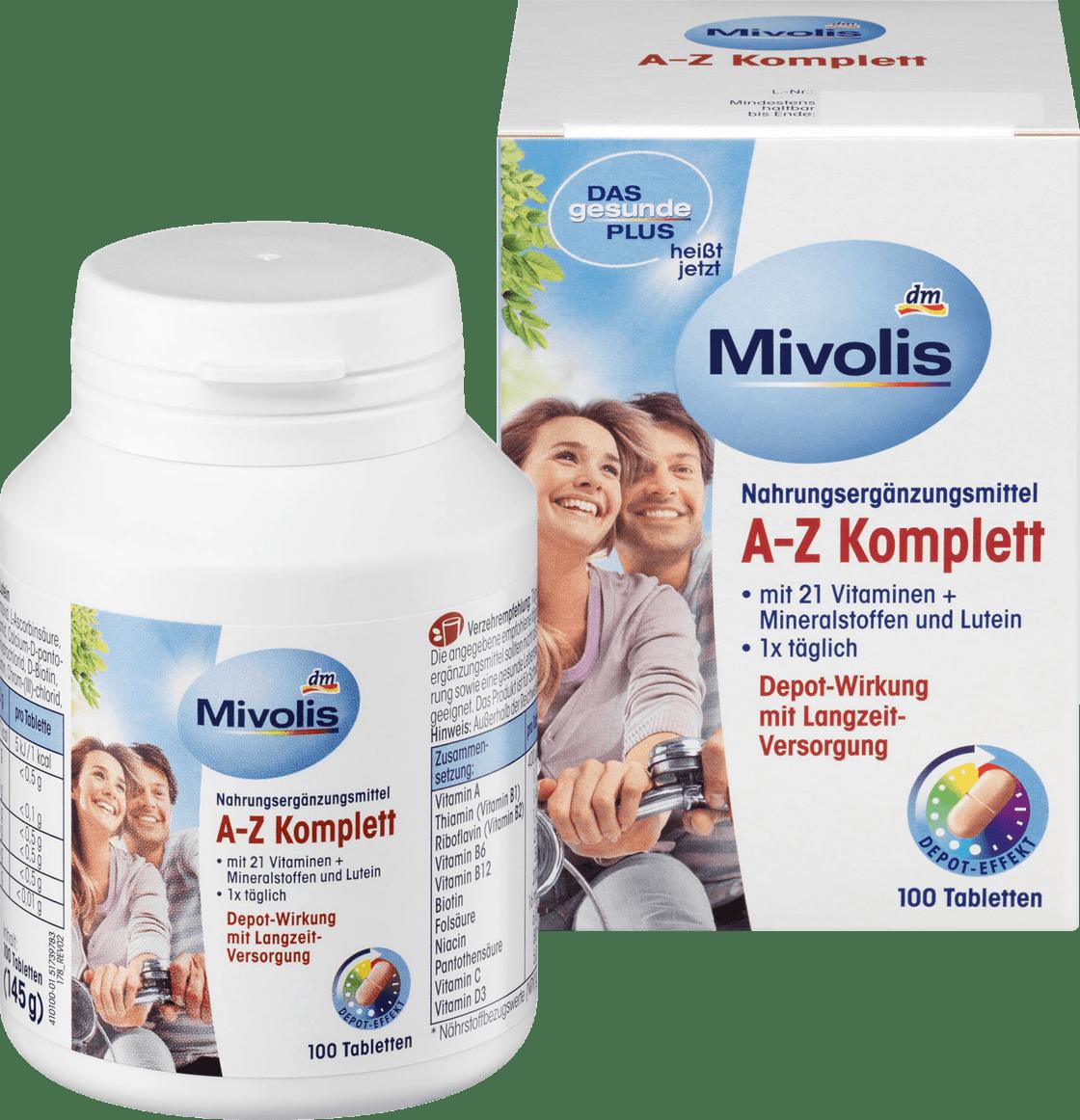 Биологически активная добавка Mivolis A-Z Komplett, 100 шт.