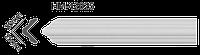 Молдинг на стену(стеновой) гладкий Classic Home HM-42025 , лепной декор из полиуретана