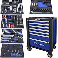 Тележка 6 полок с набором инструмента 225 предметов ANDRMAX
