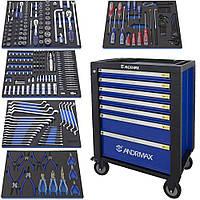 Тележка 5 полок с набором инструмента 279 предметов ANDRMAX