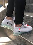 Чоловічі кросівки Nike VaporMax X Off White Білі, фото 3