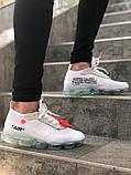 Чоловічі кросівки Nike VaporMax X Off White Білі, фото 4