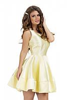 Пышное платье из атласа желтого цвета 42,44,46