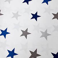 Ранфорс звезды серо-синие 220 см
