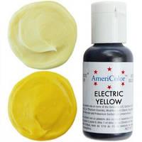 Гелевая краска AmeriColor Желтый электрик/Electric Yellow, 21 гр