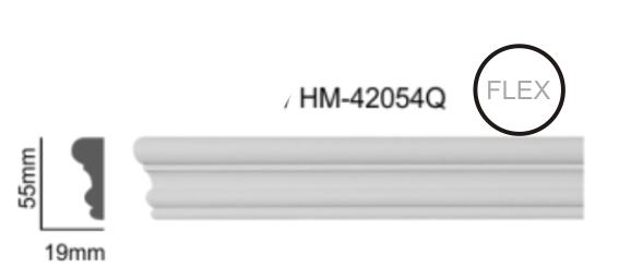 Молдинг для стен, гладкий, Classic Home HM-42054Q , лепной декор из полиуретана