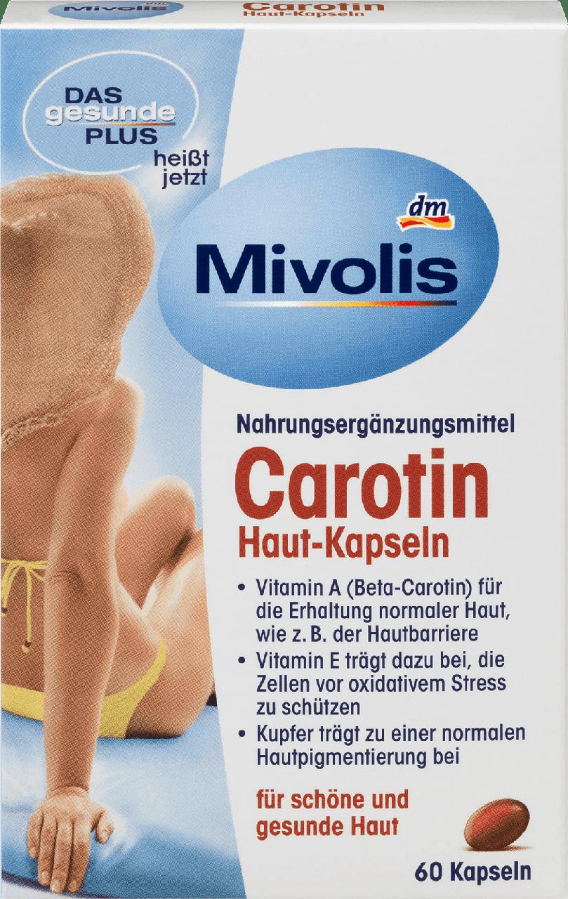 Биологически активная добавка Mivolis - Das gesunde Plus Carotin, для здоровых волос, ногтей и кожи, 60 шт.