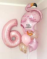 Набор шаров с цифрой, Шаром Звезда с надписью, Фламинго и другие