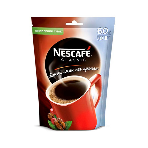 Кофе Nescafe Classic \ Нескафе Классик (60 г) растворимый