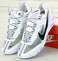 Мужские кроссовки Nike React Element 87 White белые. Живое фото. Топ реплика ААА+