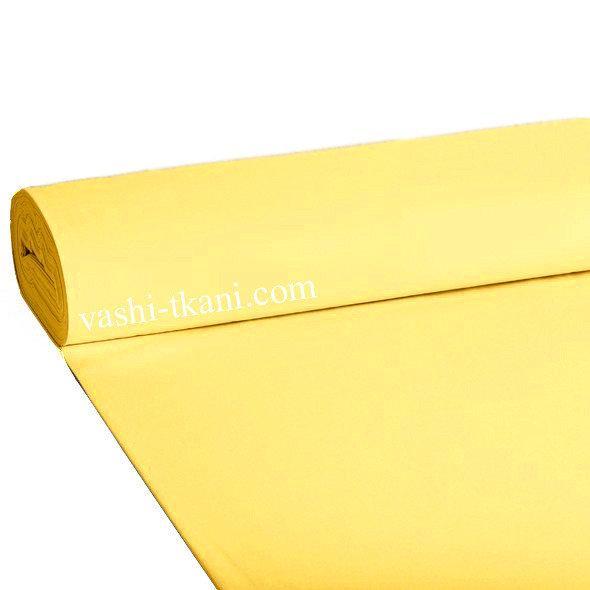 Ткань поплин De Luxe, однотонный  Желтый (Турция шир. 2,4 м) №32-21