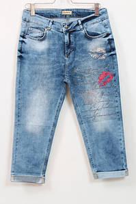 Турецкие джинсовые бриджи со стразами, 50-58