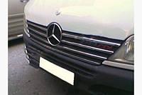 Накладки на решетку мерседес спринтер 901 (Mercedes sprinter 901), 00-02 нерж, 7шт.