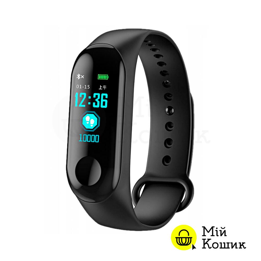 Спортивный фитнес-браслет M3. Аналог Xiaomi Mi Band 3 | черного цвета