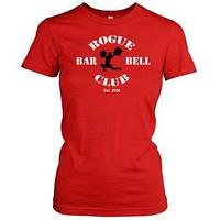 Футболка красная женская Rogue Barbel Woman RogueFitness