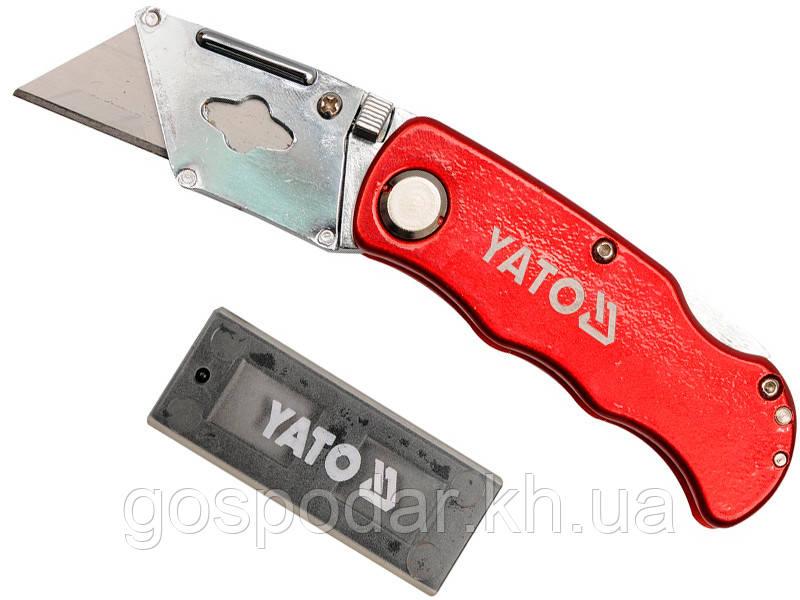 Строительный выдвижной нож трапеция Yato YT-7532