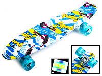 """Скейт Penny Board """"Sport surfing"""" Светящиеся колеса. (Пенни борд), фото 1"""