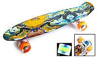 """Скейт Penny Board """"Blur"""" Светящиеся колеса. (Пенни борд), фото 1"""