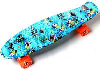 """Скейт Penny Board """"Nemo"""" Светящиеся колеса. (Пенни борд), фото 1"""
