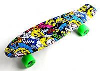 "Скейт Penny Board ""Fish"" Joker. (Пенни борд), фото 1"