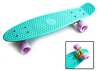 "Скейт Пенни борд. Penny Board 22 ""Pastel Series"" Бирюзовый цвет, фото 1"