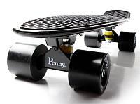 Скейт Penny Board 22 Черный цвет Черные колеса. Пенни борды