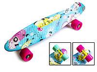 """Скейт Penny Board 22"""" С принтом """"Cool Cat"""" (Пенни борд)"""