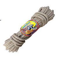 Веревка джутовая плетеная 12 мм бухта 20 м для отделки и декора