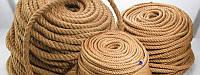 Канат джутовый 30 мм х 25 м Веревка джутовая для декора сруба бани Мотузка джутова Україна