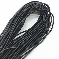 Резиновый шнур в оплетке 10 мм х 50 м Эластичный шнур-резинка в оболочке Багажный жгут Эспандер чёрный
