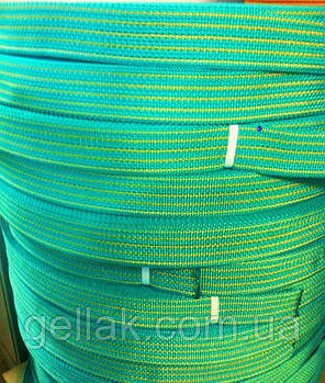 Лента буксировочная для стяжных ремней 25 мм х 50 м – Стрічка для стяжних, буксирувальних ременів бірюза