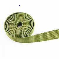 Тесьма полиэстеровая 28 мм х 50 метров 800 кг - лента для стяжных ремней ХАКИ