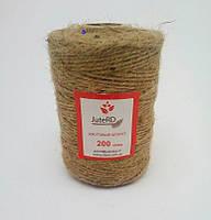 Шпагат декоративный JuteRD 200 гр х 3 мм (нить джутовая для декора), фото 2