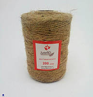 Шпагат декоративный JuteRD 600 гр х 3 мм (нить джутовая для декора), фото 2