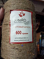 Шпагат джутовый бечевка JuteRD 400 гр х 1 мм (нить пеньковая), фото 2