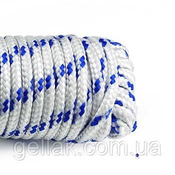 Канат полипропиленовый крученый 6 мм х 50 м (мотузка поліпропіленова оптом)