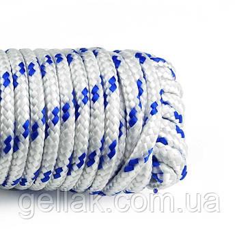 Канат полипропиленовый крученый 8 мм х 50 м (мотузка поліпропіленова оптом)