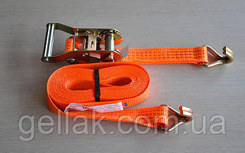 Ремень стяжной для крепления груза 2 т х 6 м х 50 мм – стяжка кріплення вантажу, ремінь буксирувальний