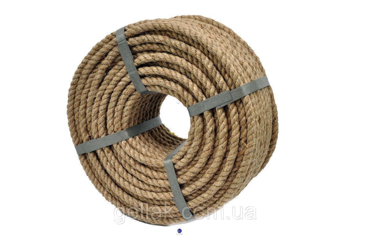 Веревка джутовая JuteRD 5 мм х 100 м  бечевка  канат пеньковый  мотузка джутова  Украина