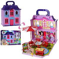 Домик раскладной для маленьких куколс мебелью и аксессуарами, 3 куклы энчантималс по 10 см, 11693