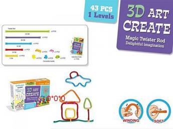 3D конструктор, 43 детали