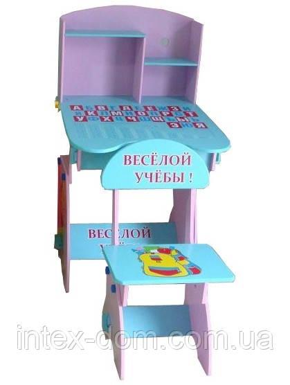Детская парта со стульчиком Bambi W 035 A (стол-парта) растишка (регулируемая) киев