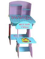 Детская парта со стульчиком Bambi W 035 A (стол-парта) растишка (регулируемая) киев, фото 1