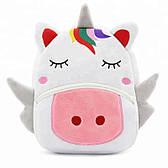 Мягкий плюшевый дошкольный детский рюкзак Единорог для девочки