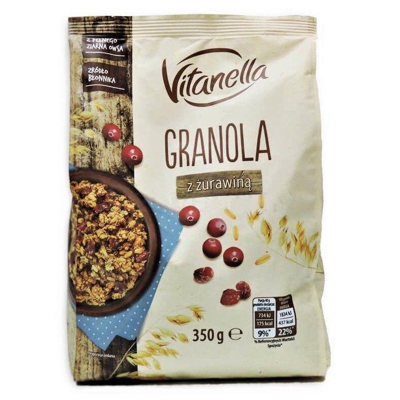 Гранола Granola Vitanella с клюквой 350г Польша