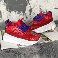 Кроссовки Versace Chain Reaction Red White