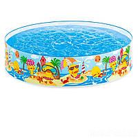 Бассейн с жесткими бортами Интекс, для детей . 122х45 см intex 58477